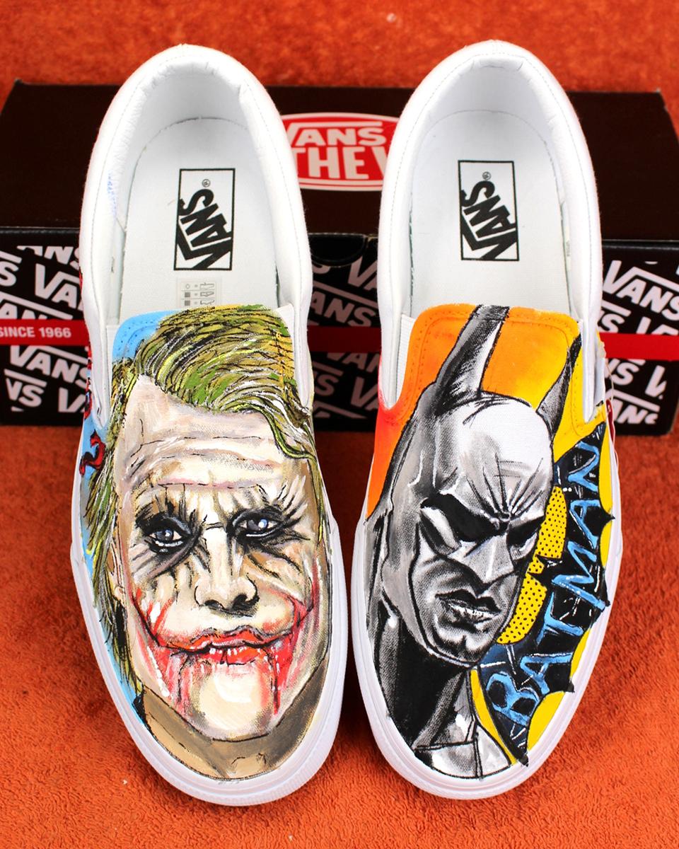 e52a0e160c39 Custom Shoes JOKER vs BATMAN 2017 VANS