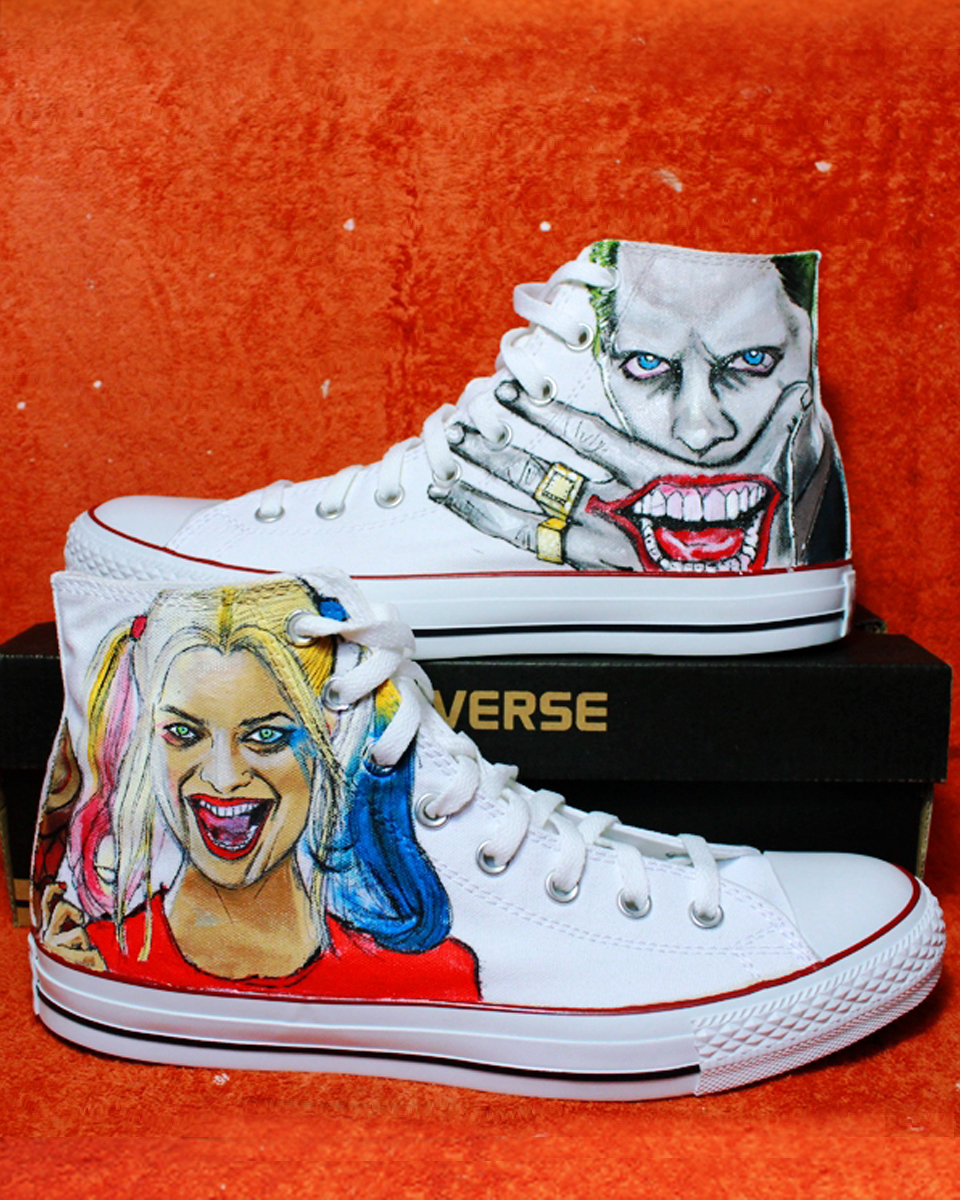 325c54fc9dd3 Shoes SUICIDE SQUAD Joker + Harley 2017 CONVERSE ALL STAR