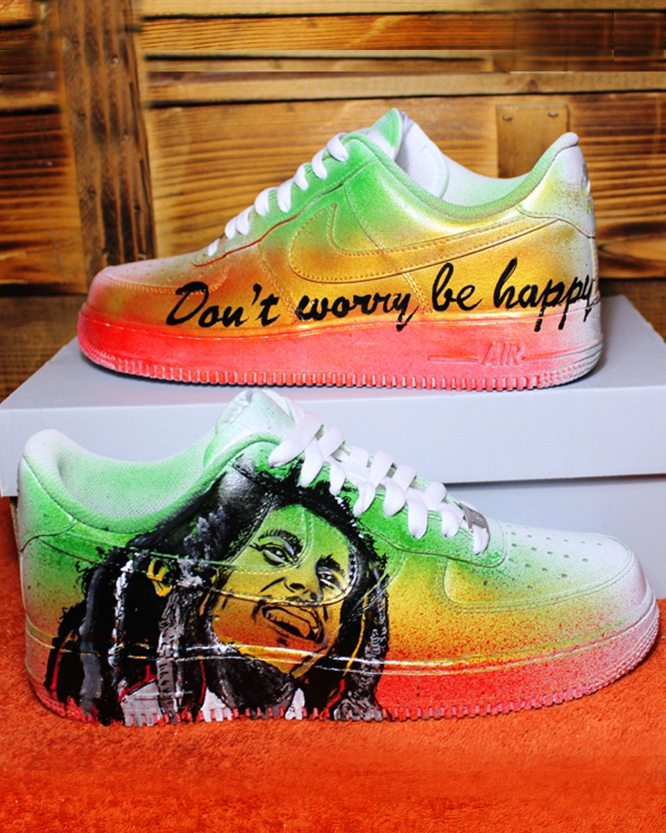 ba80f34012 Custom Shoes BOB MARLEY 2017 NIKE air force | Handpainted