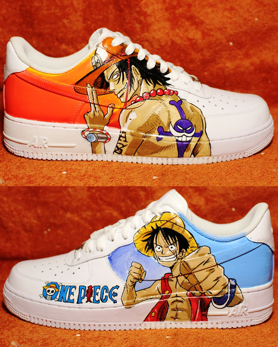 74393f121ad Custom Shoes ONE PIECE 2017 NIKE air force