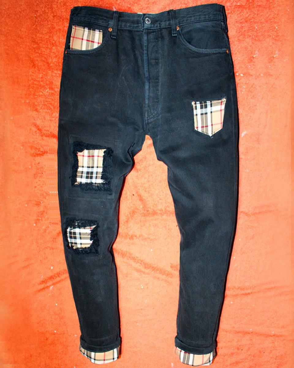 enorme sconto 83905 bdc6b Vintage BLACK Levi's Jeans BURBERRY beige