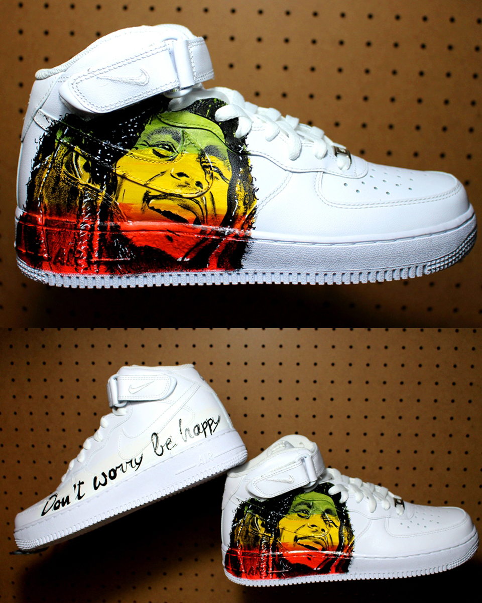 ea38a69db4 Custom Shoes Bob Marley 2017 Nike Air Force | Handpainted